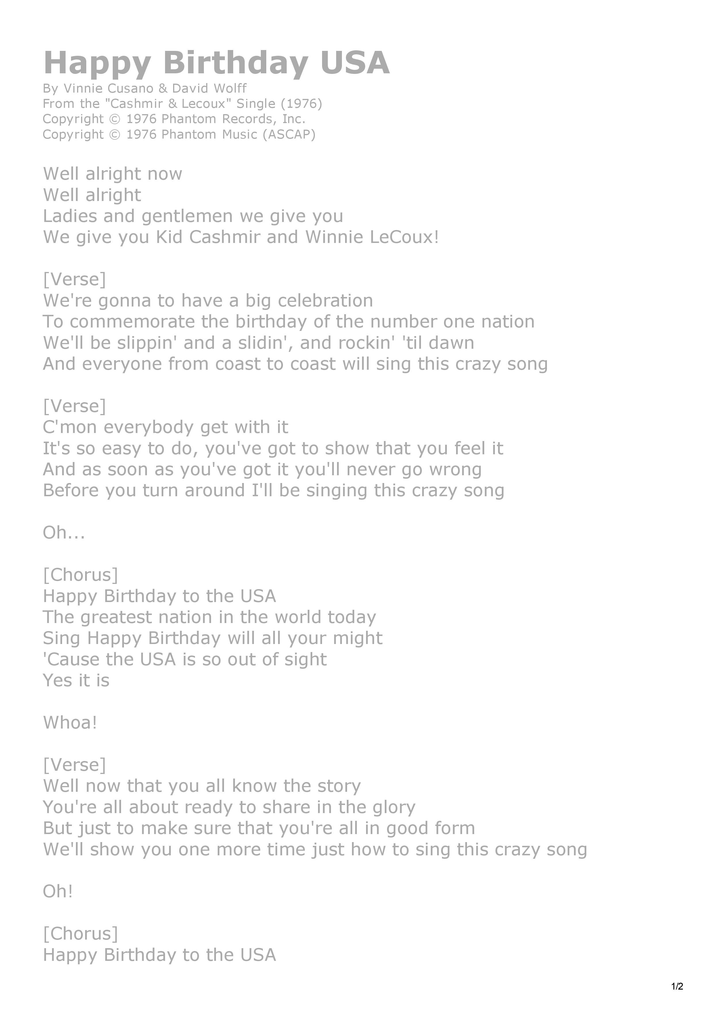 01. Happy Birthday U.S.A. song lyrics-page-1.jpg