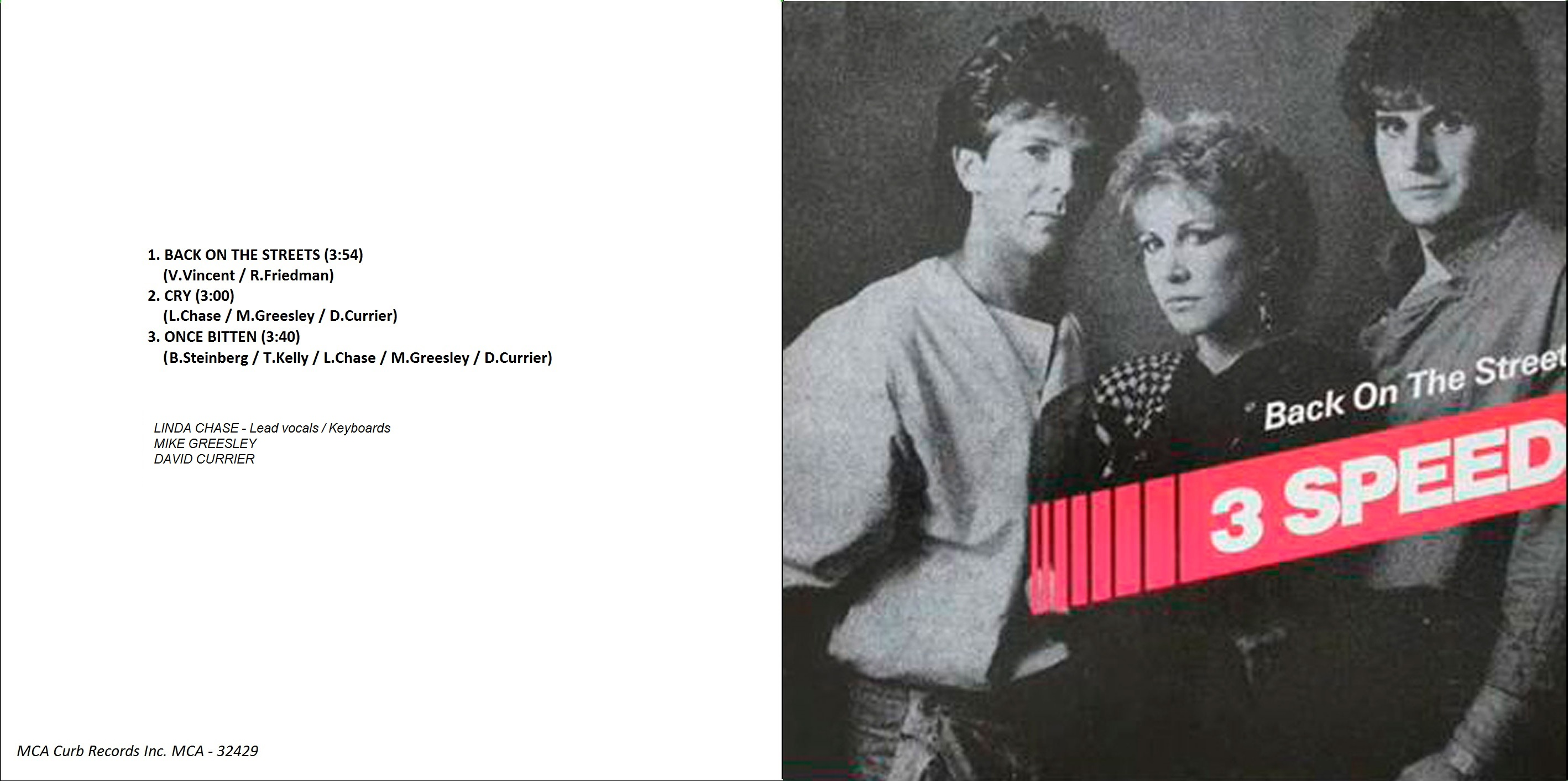 3 Speed (12 inch single) album front cover, 1984.jpg