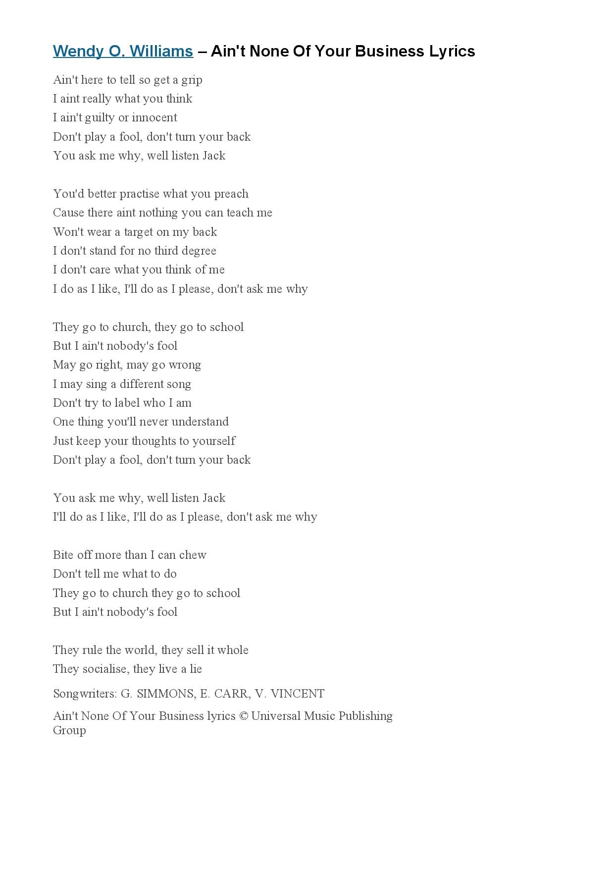 Ain t None Of Your Business Lyrics - Wendy O-page-001 (1).jpg
