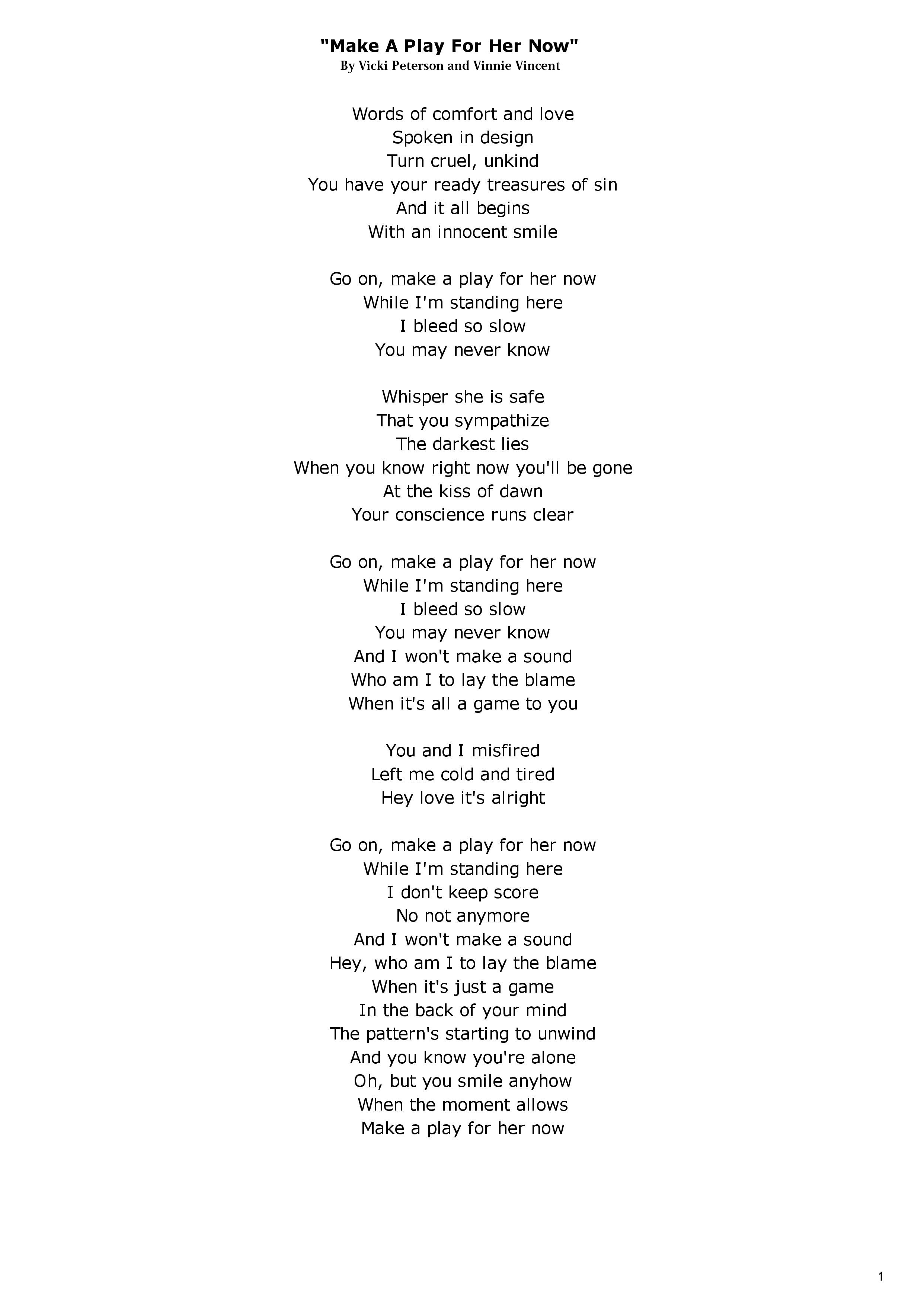 THE BANGLES LYRICS - Make A Play For Her Now.jpg