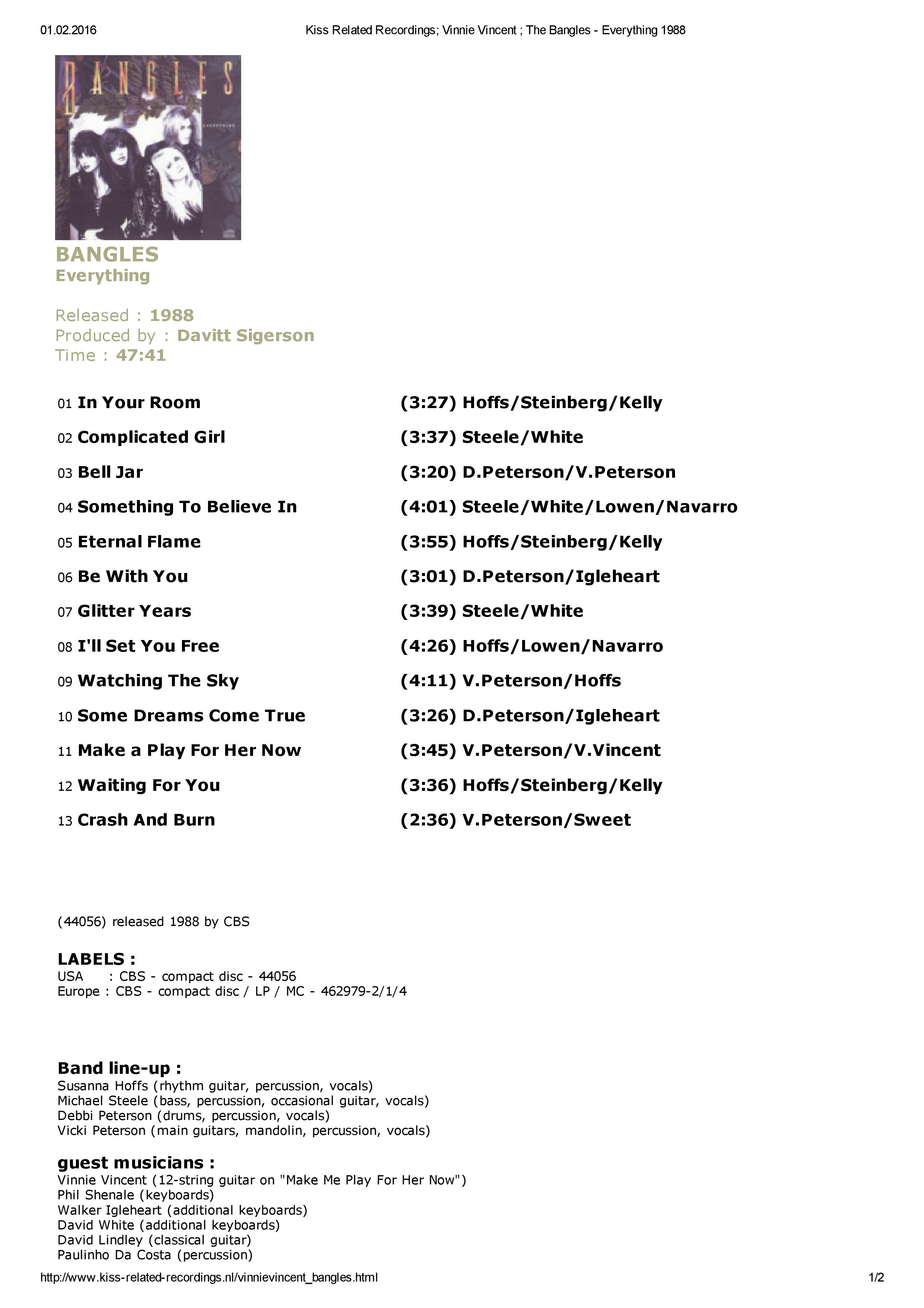 Kiss Related Recordings; Vinnie Vincent ; The Bangles - Everything 1988-page-001.jpg