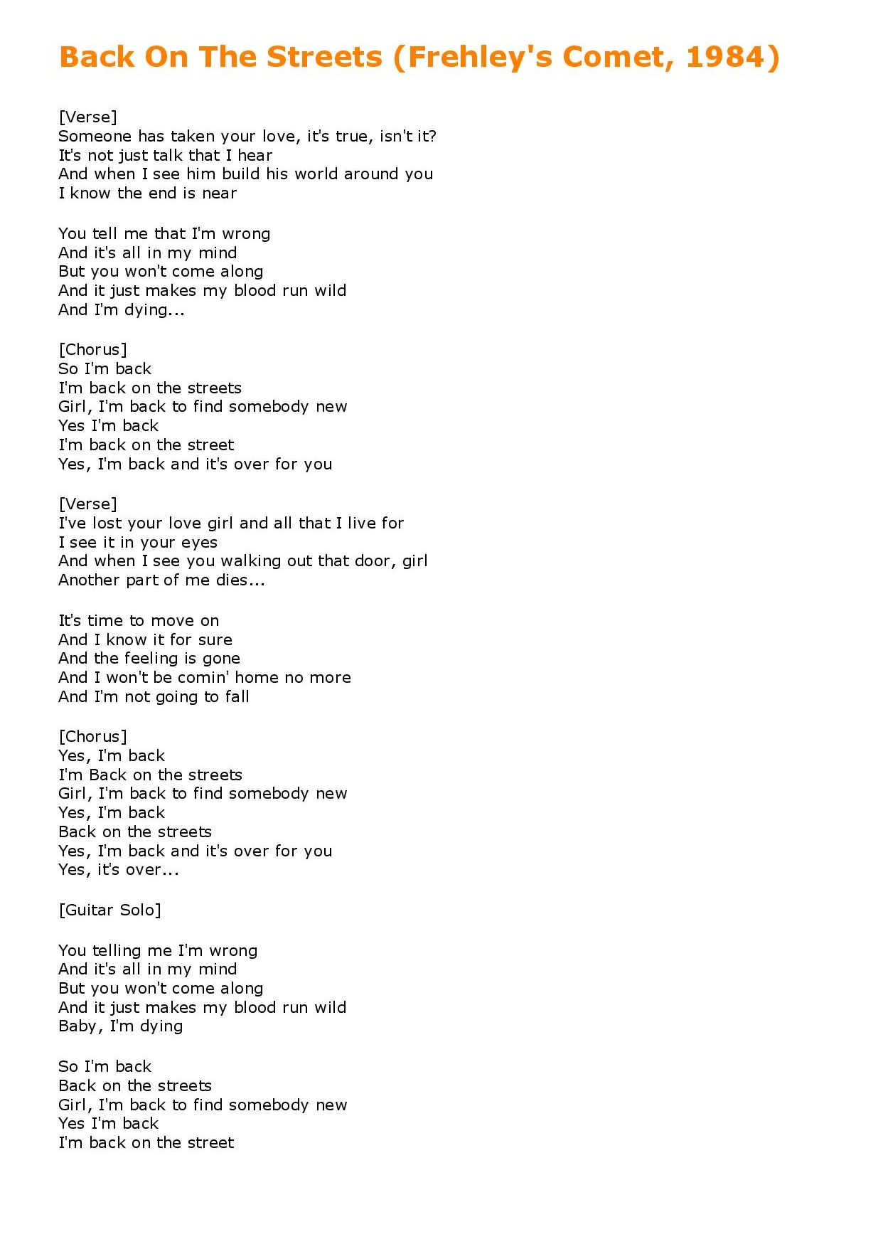 KISSMONSTER - Unreleased Demo Lyrics - Back On The Streets (Frehley s Comet, 1984)-page-001.jpg