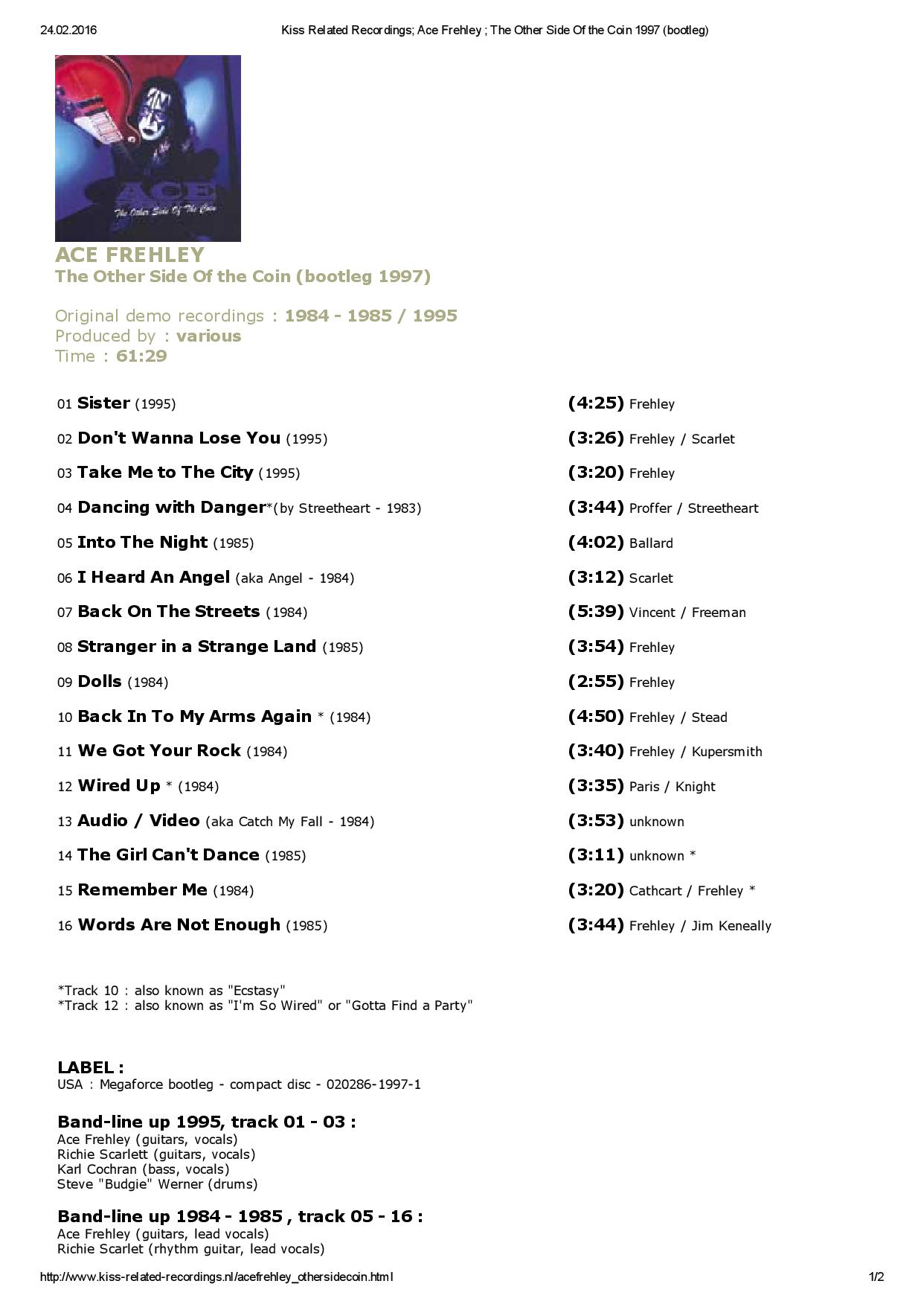 Kiss Related Recordings; Ace Frehley ; The Other Side Of the Coin 1997 (bootleg)-page-001.jpg