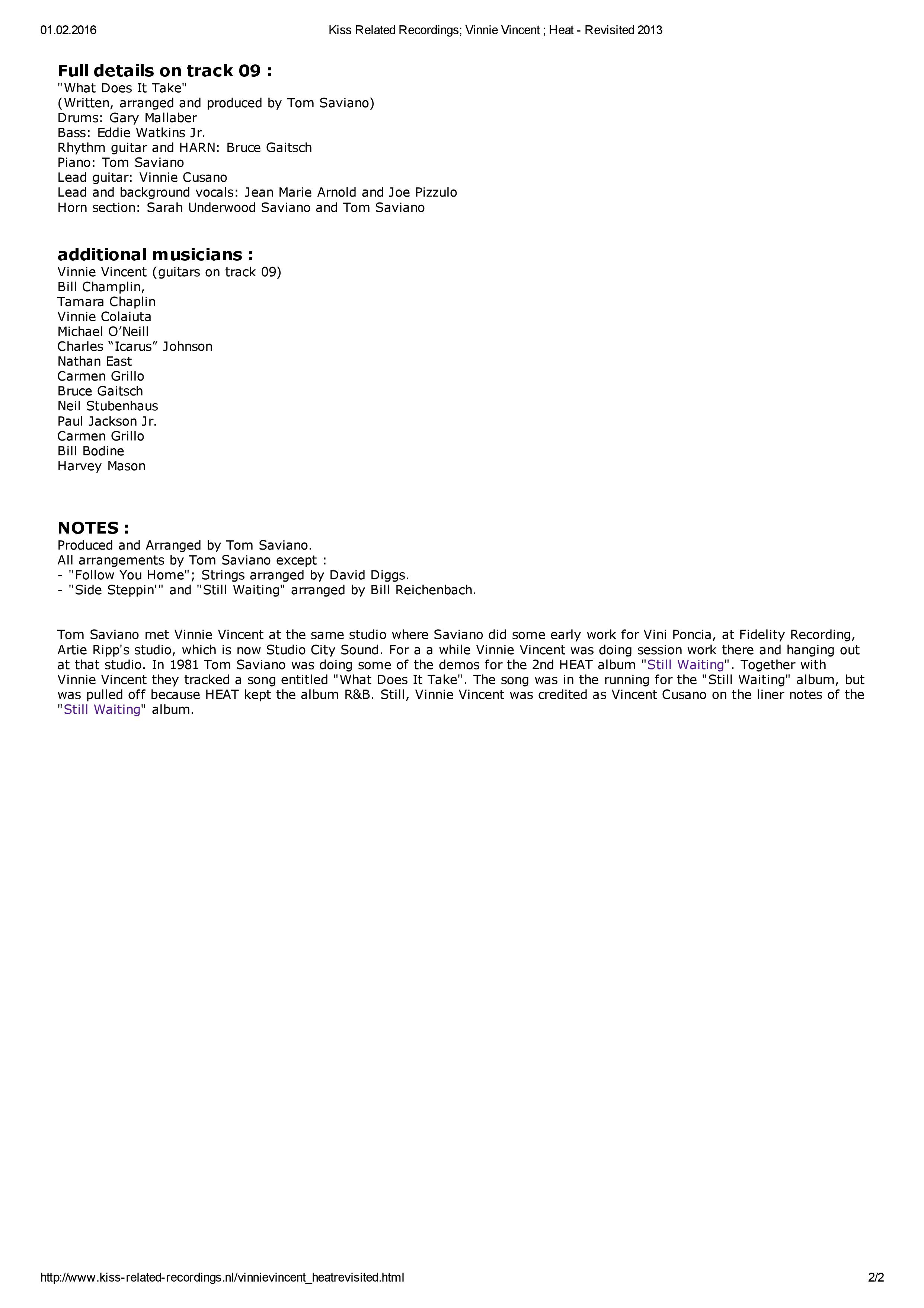 Kiss Related Recordings; Vinnie Vincent ; Heat - Revisited 2013-page-002.jpg
