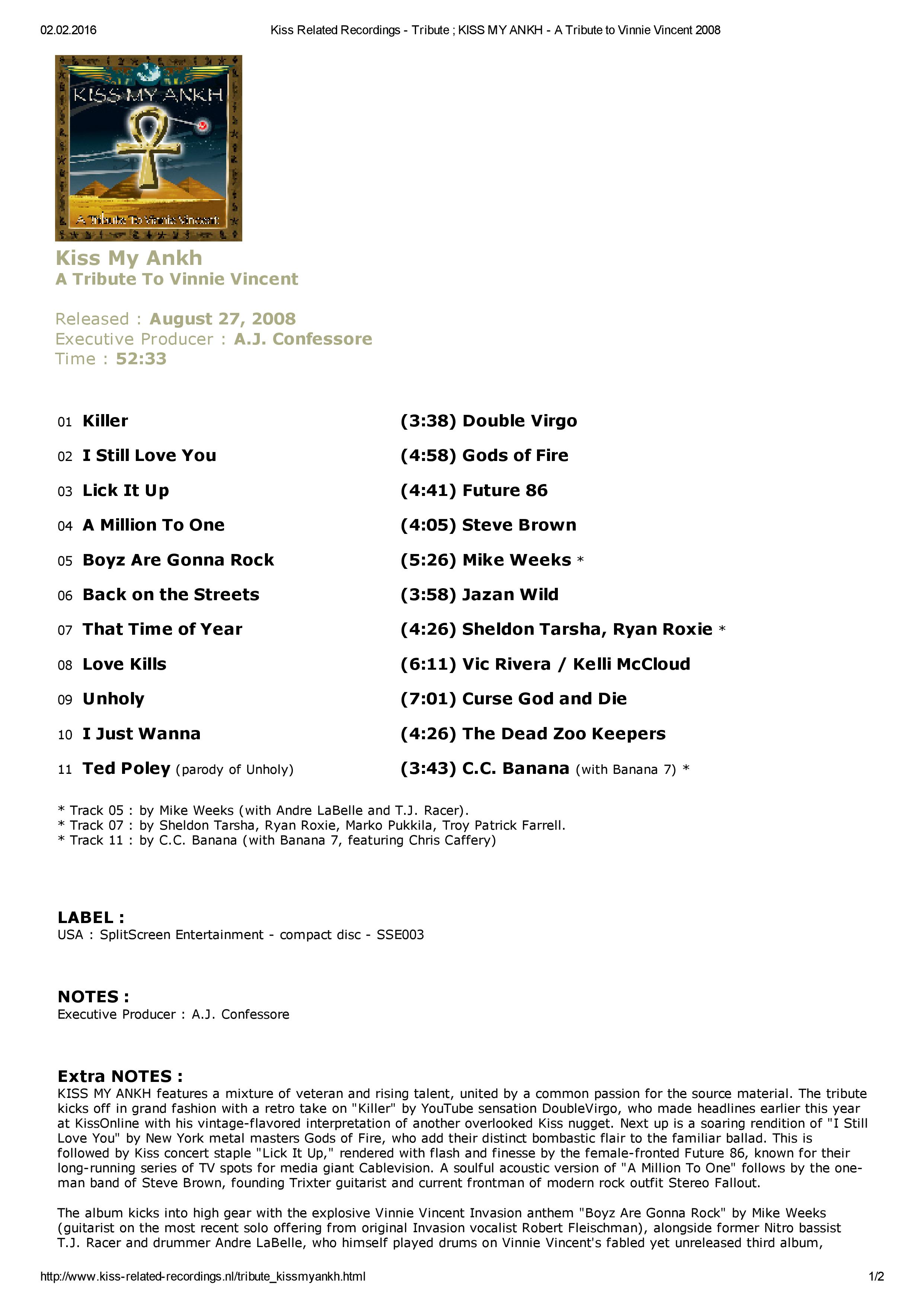 Kiss Related Recordings - Tribute ; KISS MY ANKH - A Tribute to Vinnie Vincent 2008-page-001.jpg